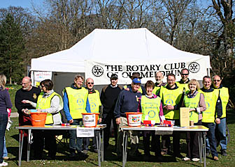 Oldmeldrum Rotary Club team at the Reception tent