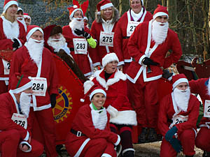 Santas before the start