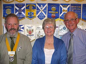 Pres.Elect Martin, Cath Wilkie and Rob Rothnie